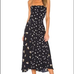 VINCE mixed ditzy hibiscus floral dress size 8